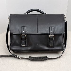 Coach Black Leather Messenger/Shoulder Bag